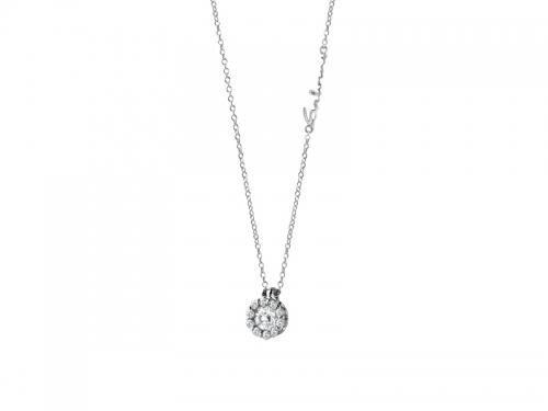 Corona Pendant Diamonds and White Gold