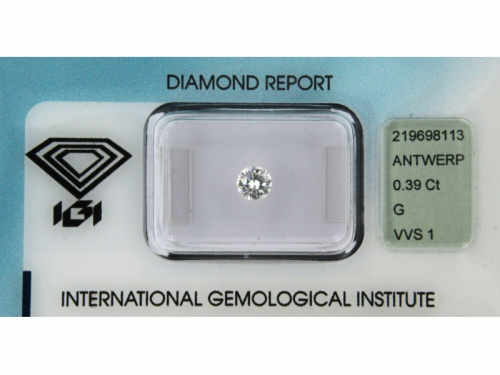 Diamante Naturale Brillante G Color Blister 0,39 ct