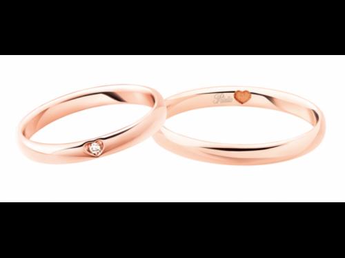 Polello Wedding Rings 3119 Rose Gold