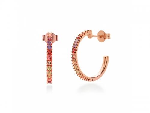 Amalfi Circle Rosé Earrings