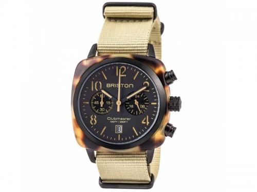 Men's Clubmaster Classic Acetate Chronograph Watch Safari